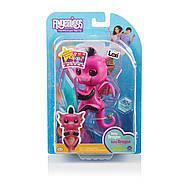 Оригинальный интерактивный ручной дракончик Лекси Fingerlings Pink and Black Glitter Dragon Lexi, фото 7