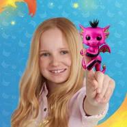 Оригинальный интерактивный ручной дракончик Лекси Fingerlings Pink and Black Glitter Dragon Lexi, фото 9