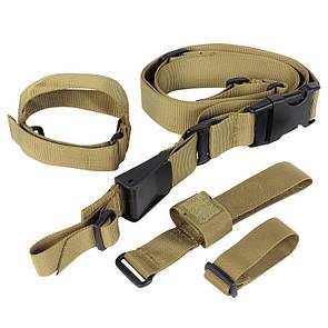 Оригинал Трехточечный оружейный ремень Condor Tactical 3 Point Sling T3PS Олива (Olive)