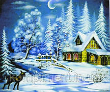 """Картина по номерам  """"Зимний вечер"""" 40*50 см, краски - акрил"""