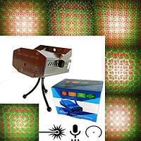 Лазерный проектор, Диско лазер, Стробоскоп 6 в 1 металик