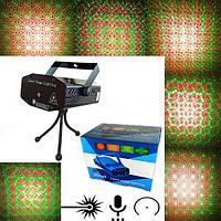 Лазерный проектор, Диско лазер, Стробоскоп 6 в 1 черный