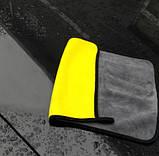 Салфетка из микрофибры для дома и авто Желтый+ Серый, фото 3