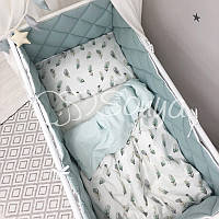 Детский постельный комплект Baby Mix Перо мята, фото 1