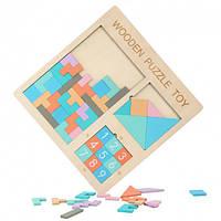 """Головоломка из дерева """"3 In 1 Wooden Puzzle Toy"""" детская настольная игра головоломка детская игрушка танграм"""