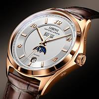 Мужские классические часы Lobinni Premium с кожаным ремешком