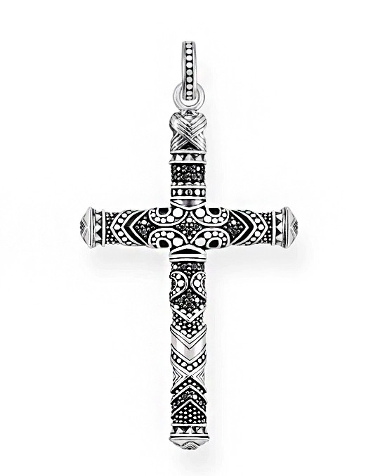 Крест серебряный Маори КР-28 Б