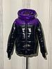 Женская зимняя куртка короткая блестящая размеры 42-54, фото 4