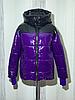Женская зимняя куртка короткая блестящая размеры 42-54, фото 5