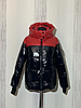 Женская зимняя куртка короткая блестящая размеры 42-54, фото 6