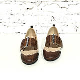 Туфли с широким ремешком через подъем, каблук 4см, цвет беж, фото 3