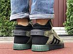 Мужские зимние кроссовки Adidas Tubular (темно-зеленые) 10040, фото 5