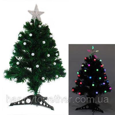Искусственная елка 60см шарики светодиодная