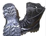 Берцы зимние тактические черные , искусственный мех, подошва антистатик, фото 2