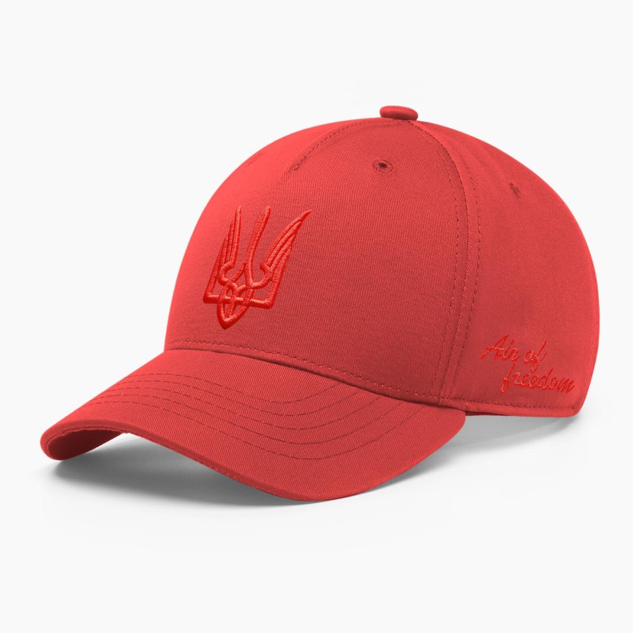 Кепка бейсболка мужская INAL с тризубом стилизованным S / 53-54 RU Красный 209853