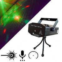 Лазерный Проектор, Стробоскоп, Дисколазер Mini, черный