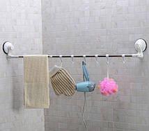 Вішалка у ванну на присосках Універсальний Around Corner Towel Rack (6 гачків)