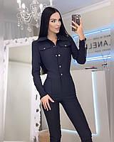 Женский брючный джинсовый комбинезон, фото 1