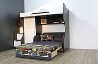 Кровать-чердак Бруно с нишей под диван (без дивана)