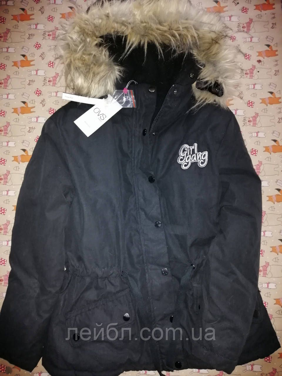 Курточка детская зимняя для девочки OVS (Италия) рост 152см.