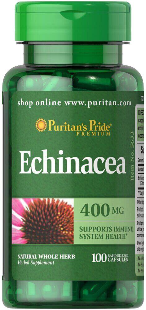 Эхинацея (иммунитет) Puritan's Pride - Echinacea 400 мг (100 капсул)