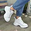 Ботинки женские кожаные спортивного стиля, цвет белый, фото 2