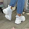 Ботинки женские кожаные спортивного стиля, цвет белый, фото 4