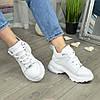 Ботинки женские кожаные спортивного стиля, цвет белый, фото 5