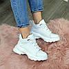 Ботинки женские кожаные спортивного стиля, цвет белый, фото 6