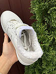Чоловічі зимові кросівки Nike Air Force (білі) 10051, фото 2