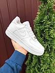 Чоловічі зимові кросівки Nike Air Force (білі) 10051, фото 4
