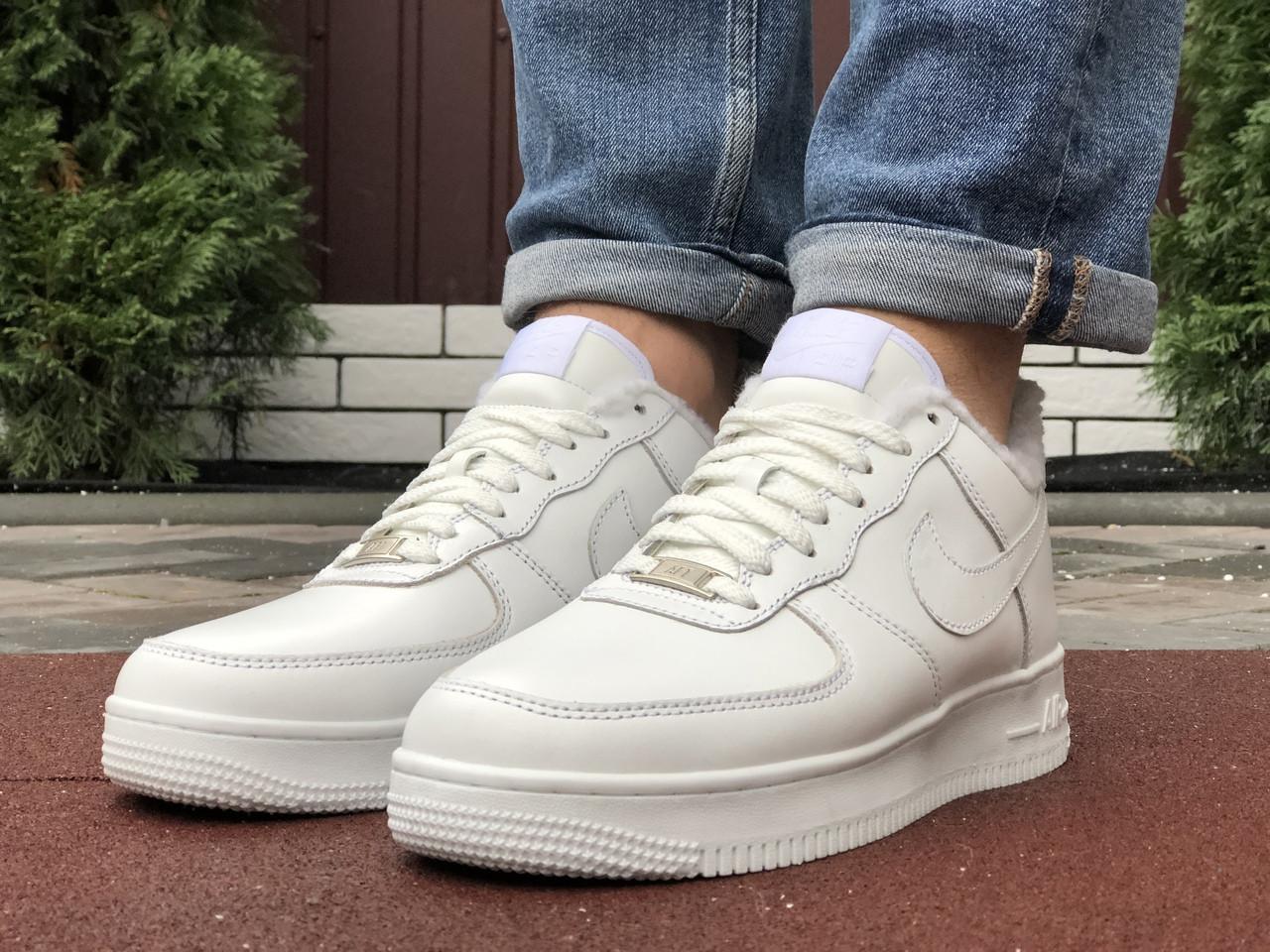 Чоловічі зимові кросівки Nike Air Force (білі) 10051