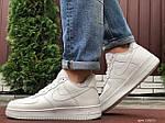 Чоловічі зимові кросівки Nike Air Force (білі) 10051, фото 6