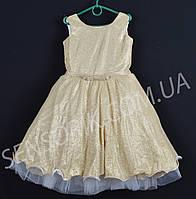 """Сукня святкова дитяче """"Клайси"""" 5-6 років Жовте Оптом і в роздріб"""