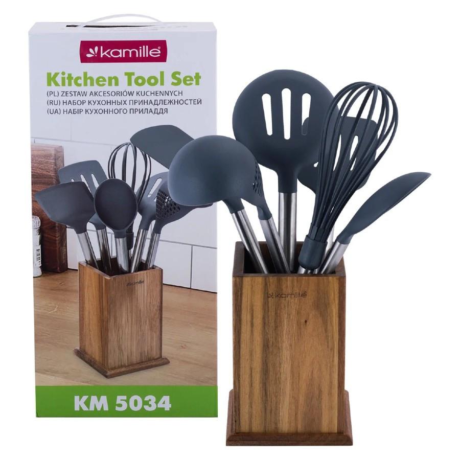Набор нейлоновых кухонных принадлежностей Kamille 7 шт