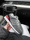 Женские зимние кроссовки New Balance NB 574 на меху PA295 серые, фото 7