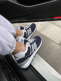 Женские зимние кроссовки New Balance NB 574 на меху PA298 синие, фото 10