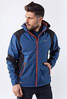 Ветровка толстовка куртка мужская синяя Softshell Avecs 50176/3 Размеры S M L XL 2XL, фото 1