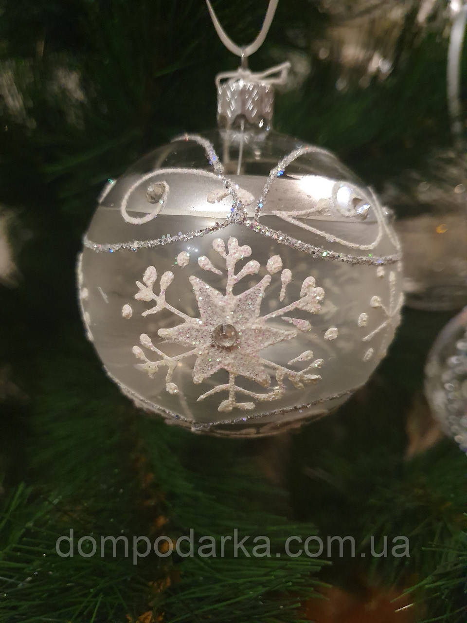 Новогодний елочный Шар Снежинка