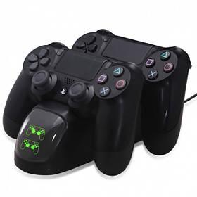 Зарядна док станція DOBE для DualShock 4 PS4 на 2 геймпада Чорний КОД: 6420524