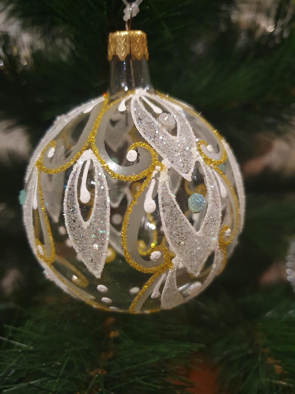 Новогодний елочный шар Узор
