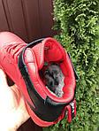 Мужские зимние кроссовки Nike Air Force (красные) 10060, фото 2