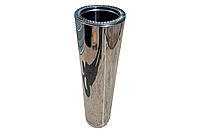 Сэндвич труба для дымохода Д140х200 Нерж/Нерж