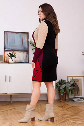 Стильне жіноче в'язане плаття, фото 2