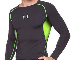 Мужская компрессионная футболка с длинным рукавом черная Under Armour