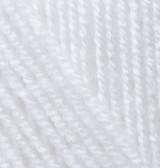 Турецкая пряжа Alize Superlana Midi для ручного вязания полушерсть белый №55