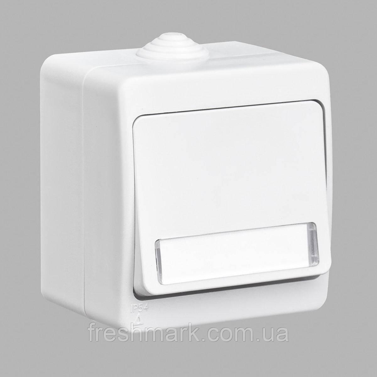 Кнопка звонка GUNSAN Nemliyer  с подсветкой и местом под этикетку влагозащищенная Белая