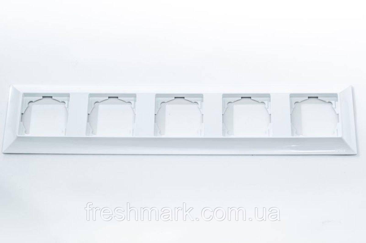Рамка пятерная GUNSAN Neoline Белая
