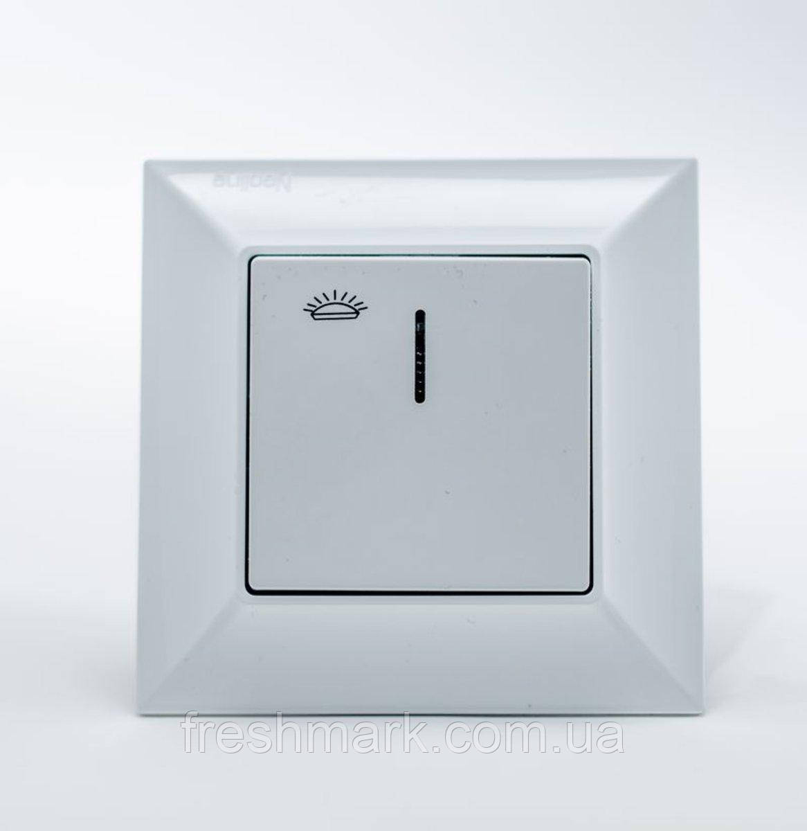 Кнопка контроля освещения  GUNSAN Neoline с подсветкой Белая