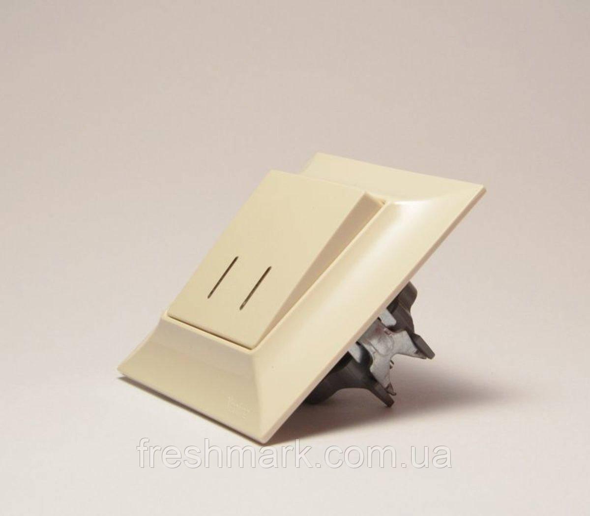 Neoline выключатель 2-ой с подсветкой кремовый